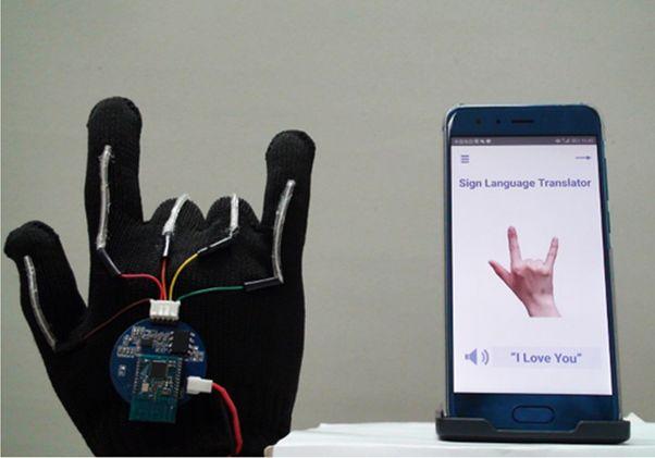 Sign language sensor glove