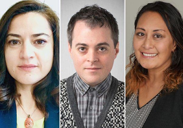 UCLA faculty Leyla Karimli, Daniel Snelson and Juliann Anesi