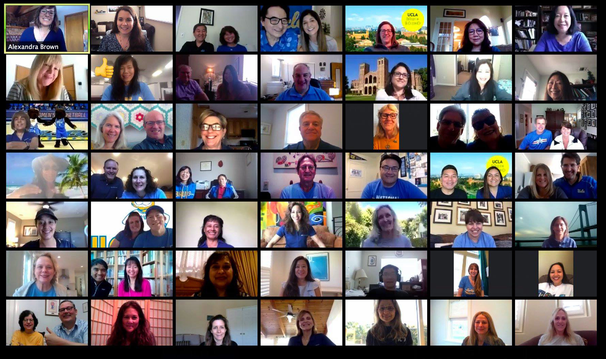 UCLA Alumni parents' council in an online meeting