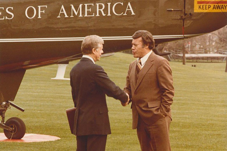 Esteban Torres and Jimmy Carter
