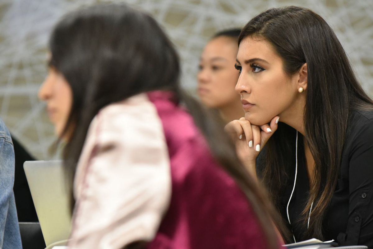 Dellara Gorjian in class