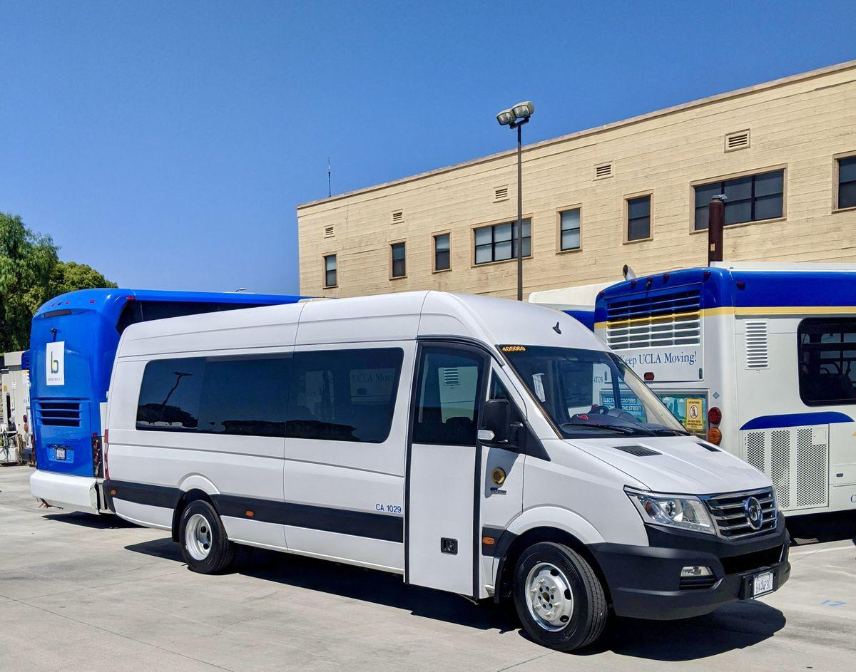 UCLA EV shuttle