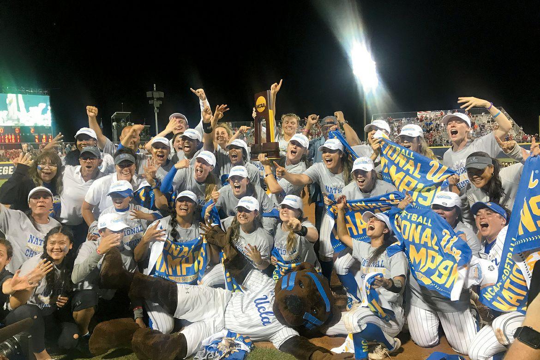 UCLA's softball team