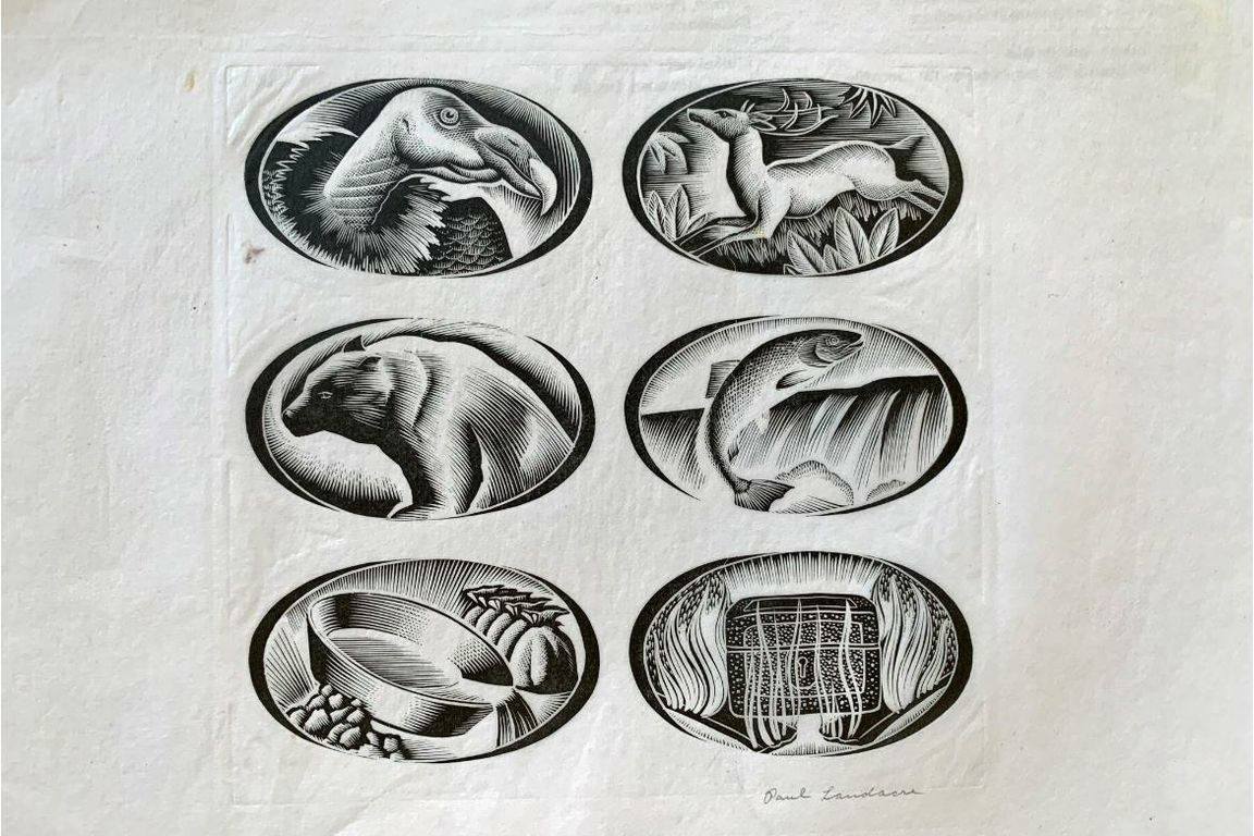Page of works by Landacre