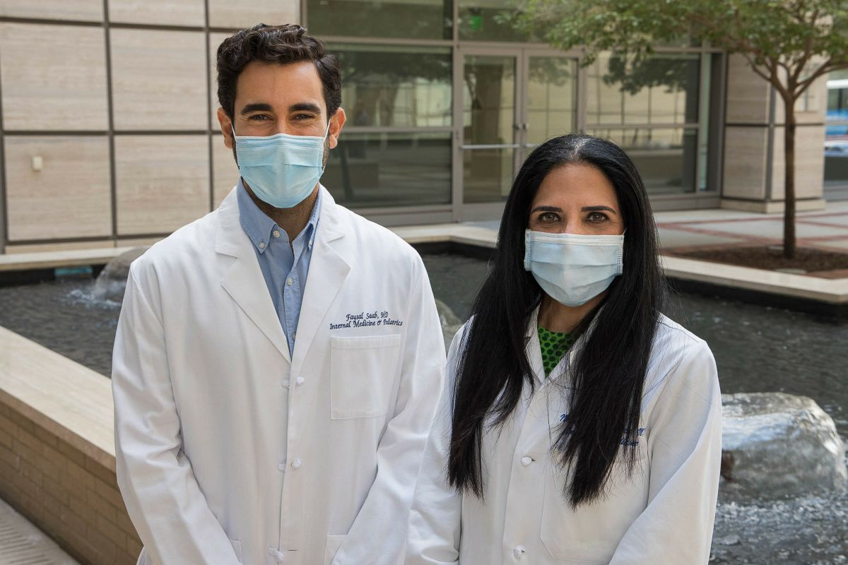 Dr.Faysal Saab and Dr. NeveenEl-Farra
