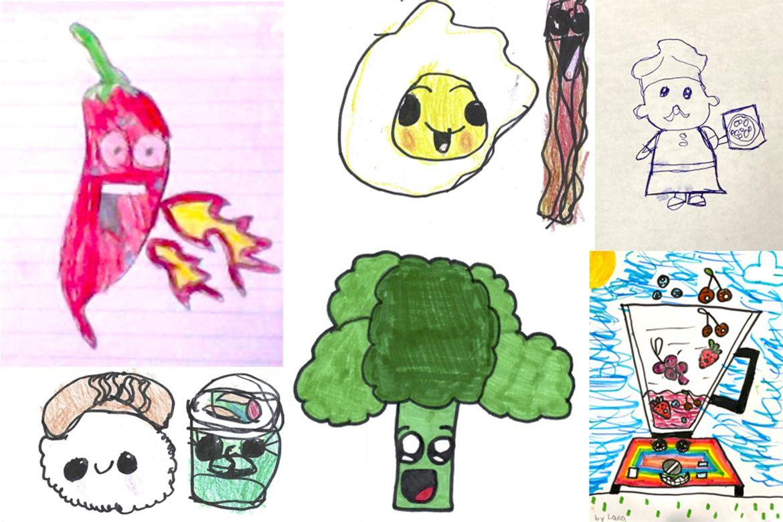 Student food drawings