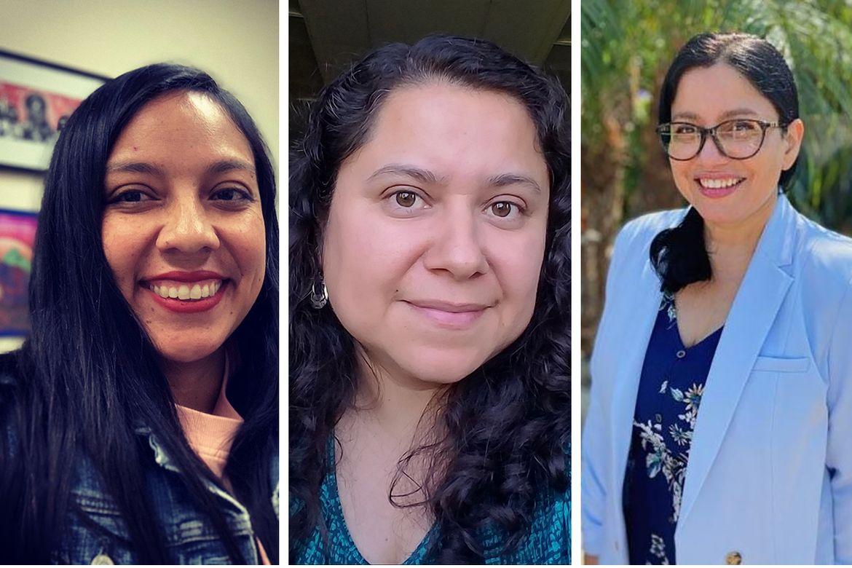 Floridalma Boj Lopez, Leisy Abrego and Karina Alma