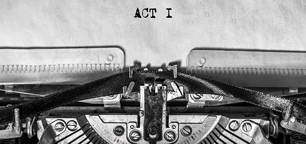 Typewriter with script page