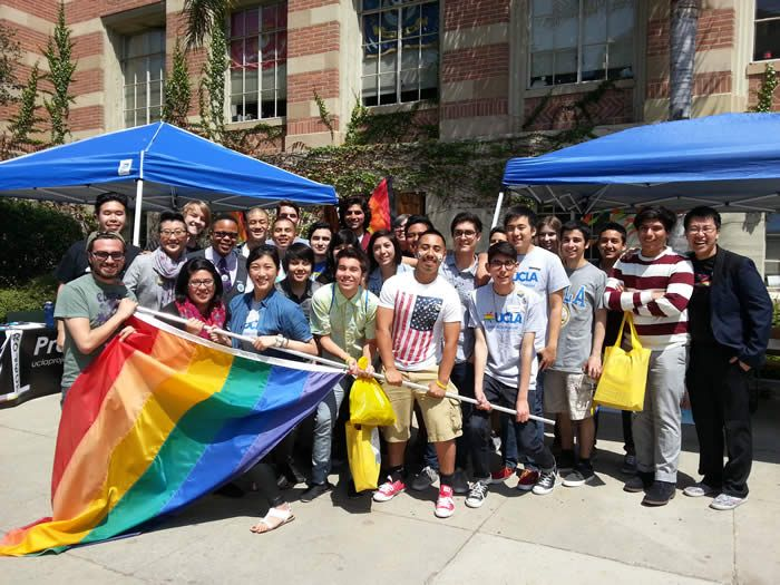 Students in front of the UCLA LGBTQ Center