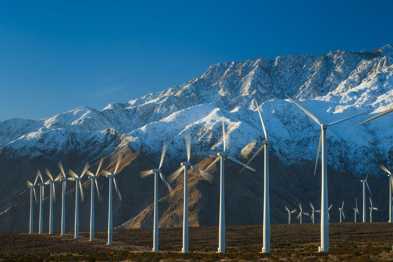 Mojave Desert wind turbines