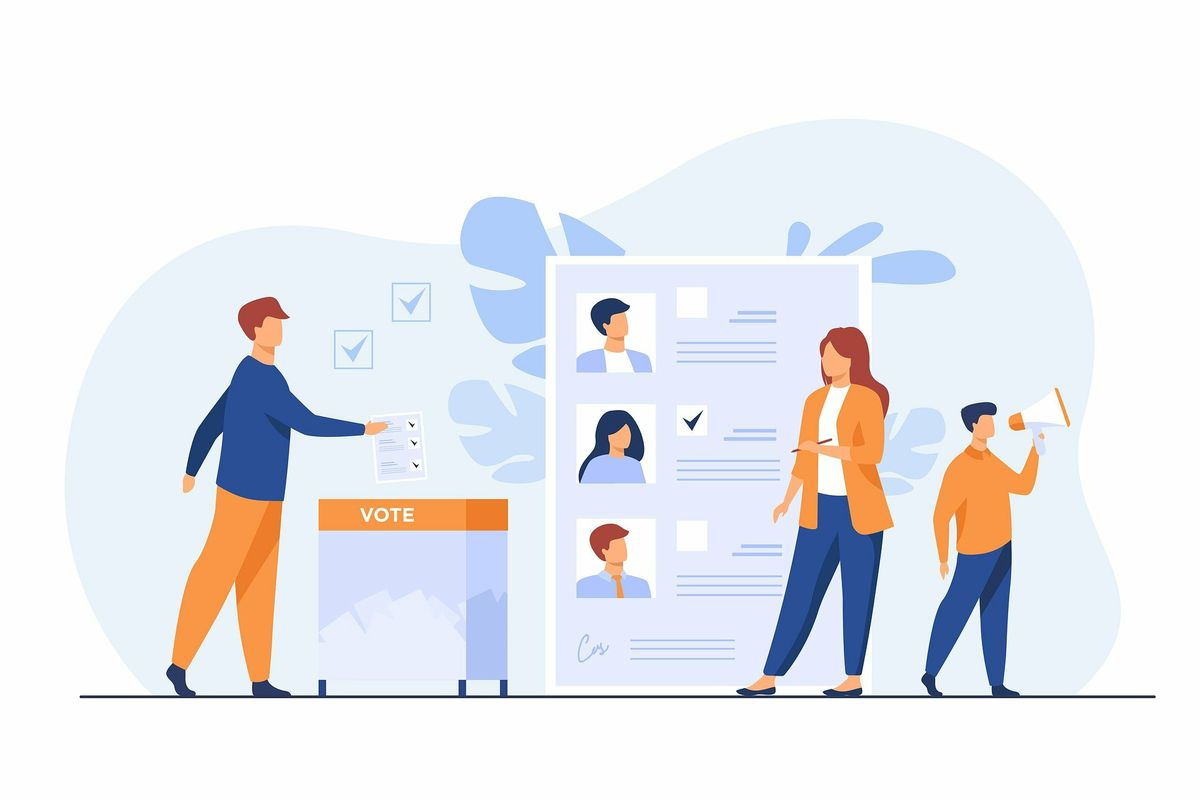 People voting illustration