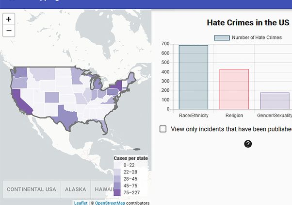 UCLA hate crime map