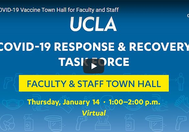 Vaccine town hall graphic