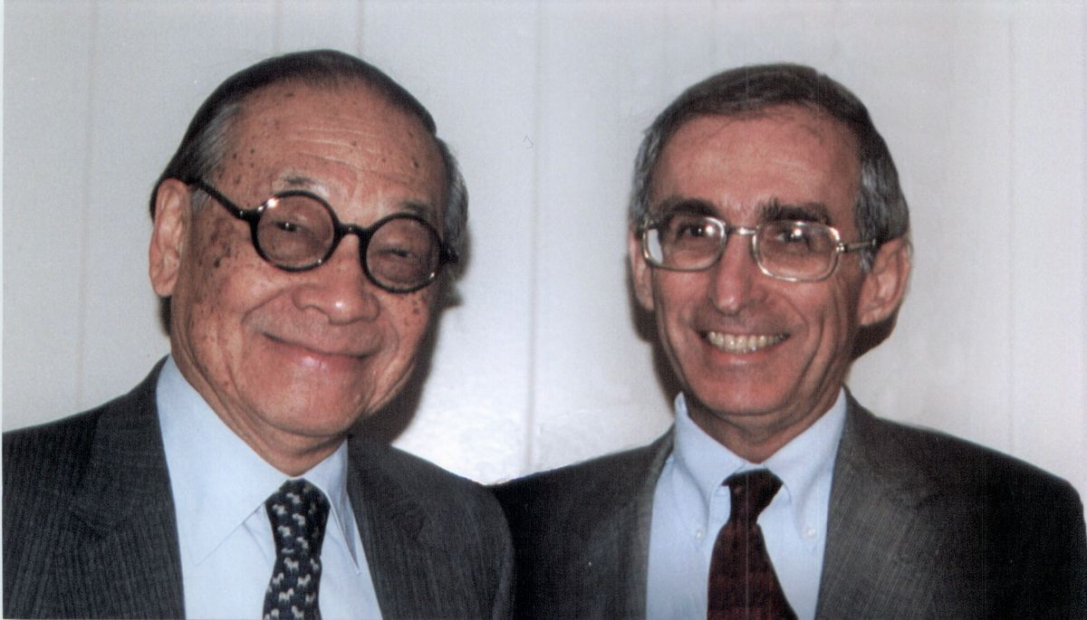 I.M. Pei and Dr. Gerald S. Levey