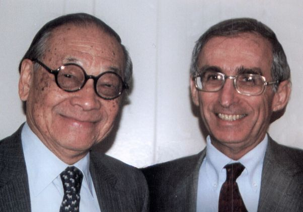 Click to open the large image: I.M. Pei and Dr. Gerald S. Levey