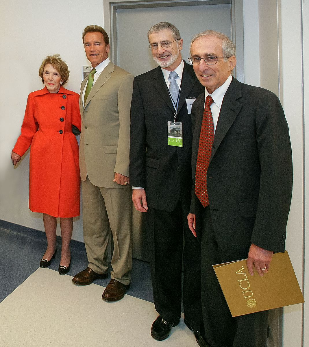 Levey with dignitaries