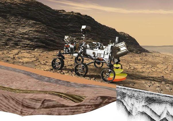 Mars rover rendering