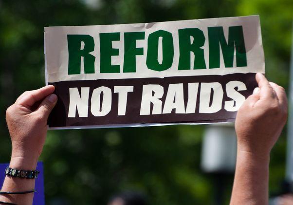Reform not raids sign