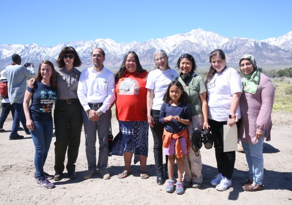 "Ann Kaneko and the people in ""Manzanar Diverted"""