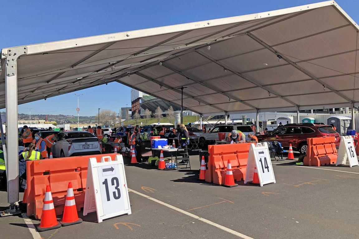 Oakland Coliseum COVID-19 vaccination site