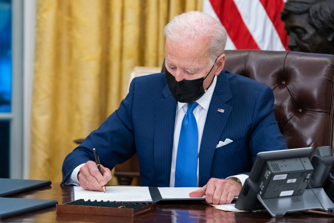 President Biden at his desk