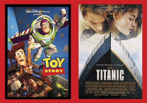 Click to open the large image: Toy Story and Titanic