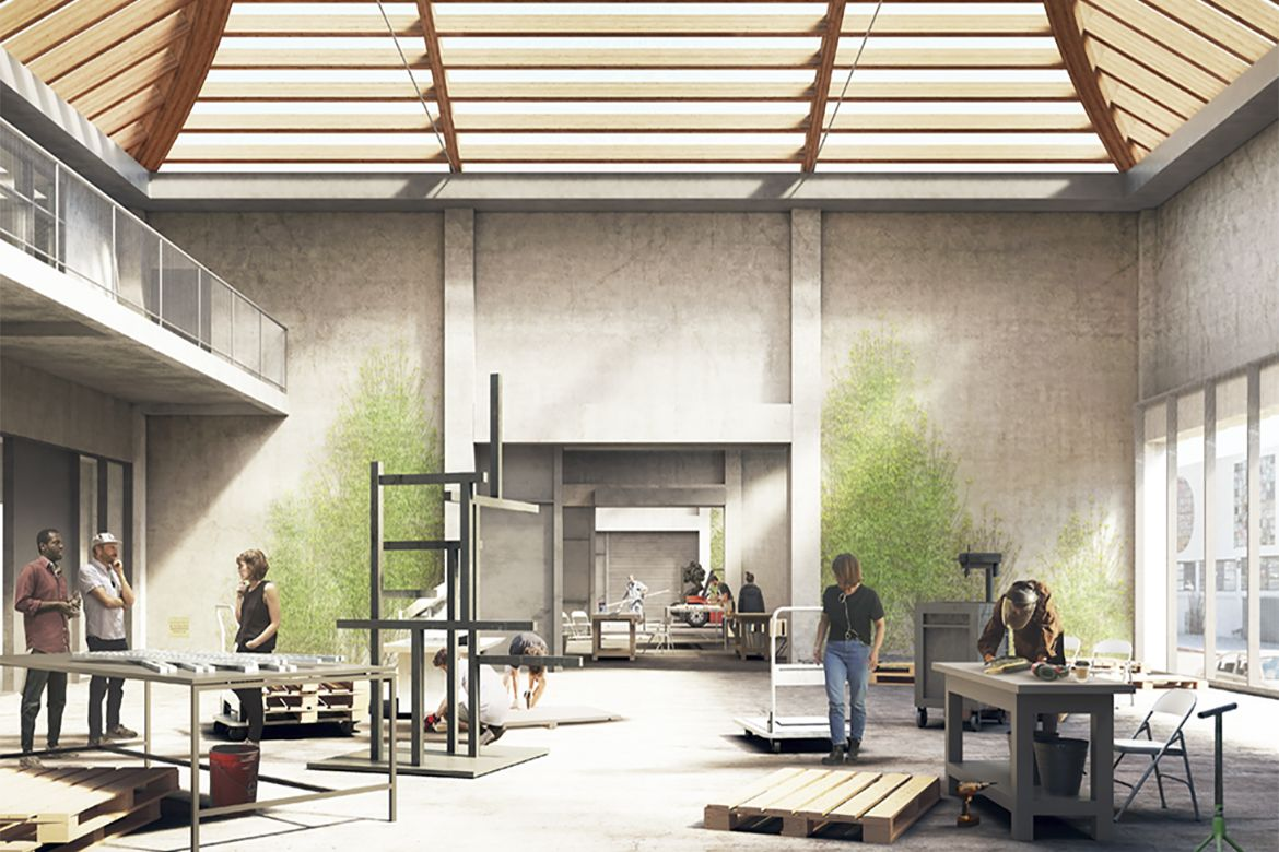 The UCLA Margo Leavin Graduate Art Studios in Culver City will provide artists fully equipped spaces in which to work and give visitors a look behind the scenes.