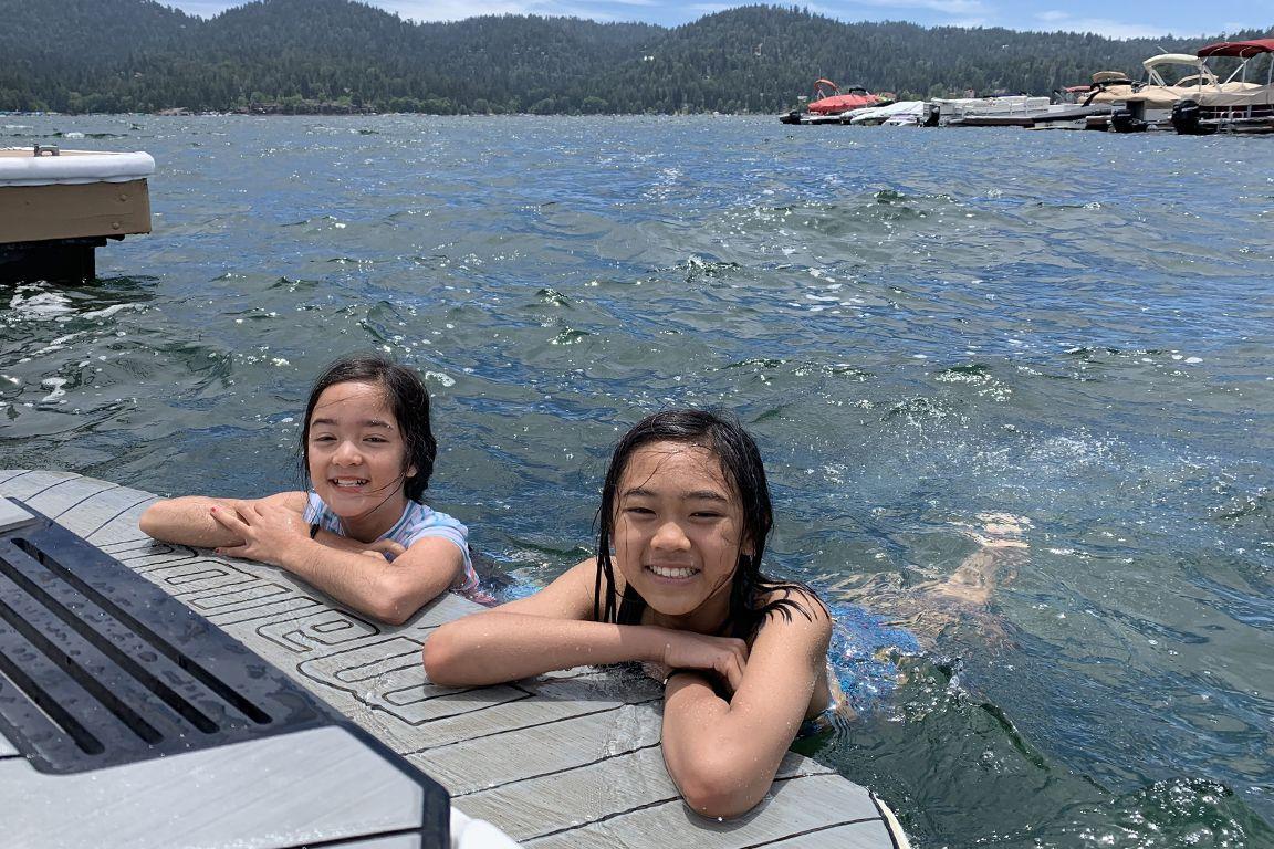 UCLA Lake Arrowhead Lodge swimmers