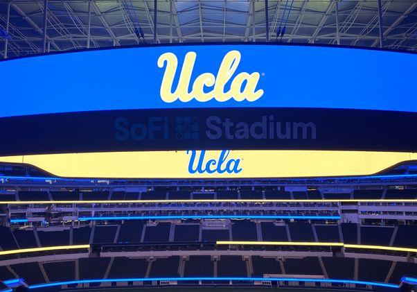 UCLA logos at SoFi Stadium