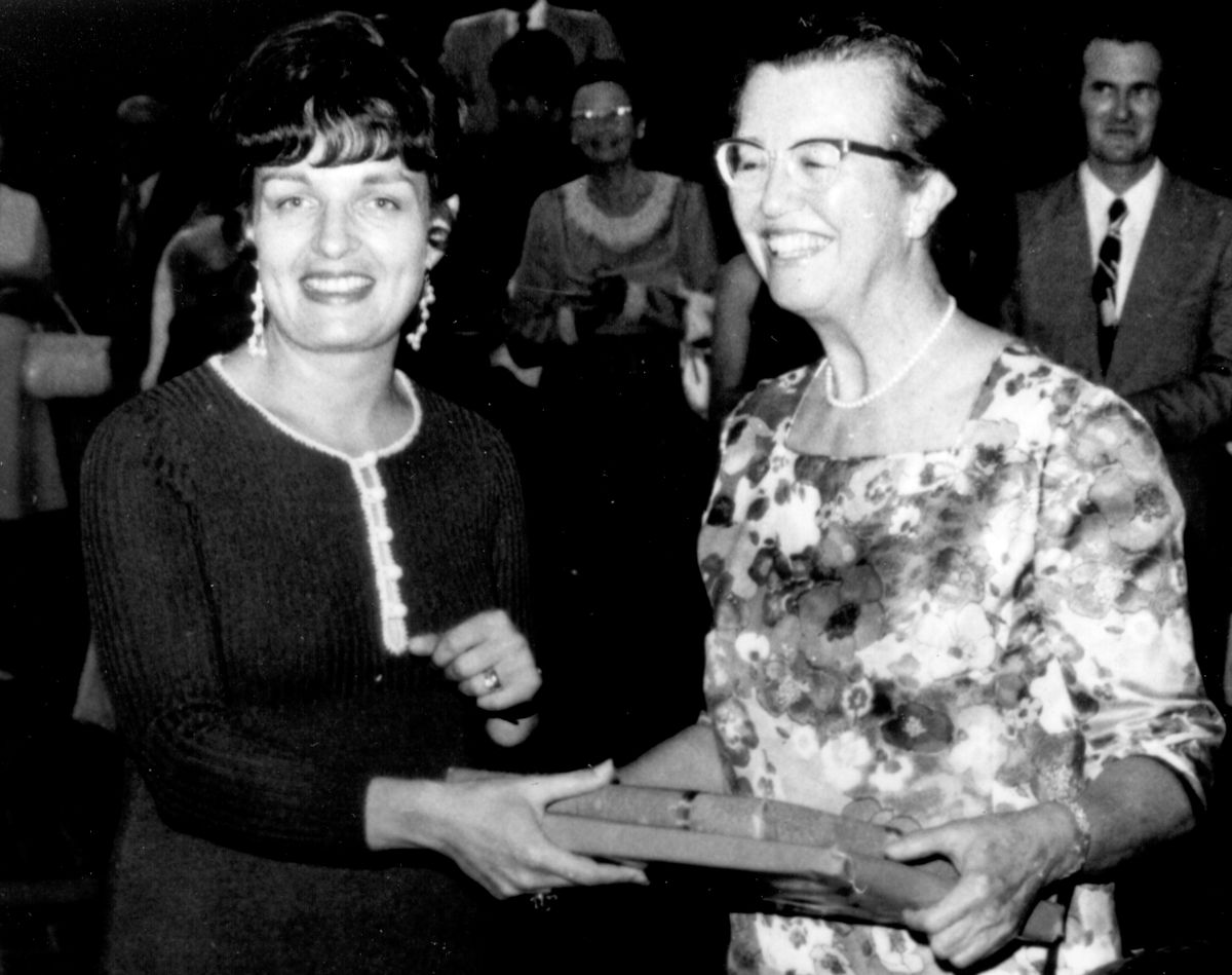 Gloria Werner (left) with Louise Darling