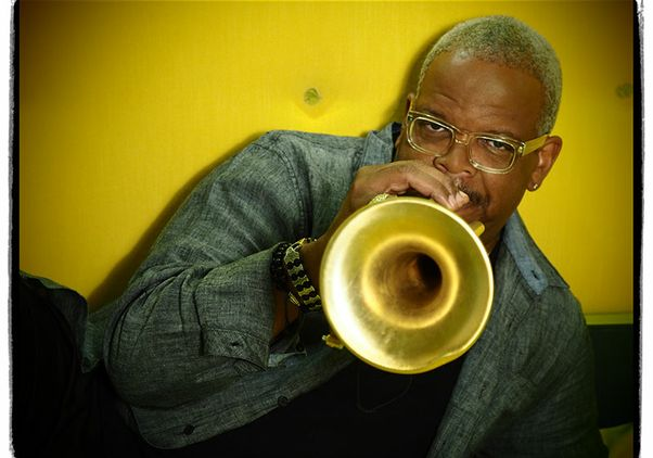 Click to open the large image: Terence Blanchard and his trumpet