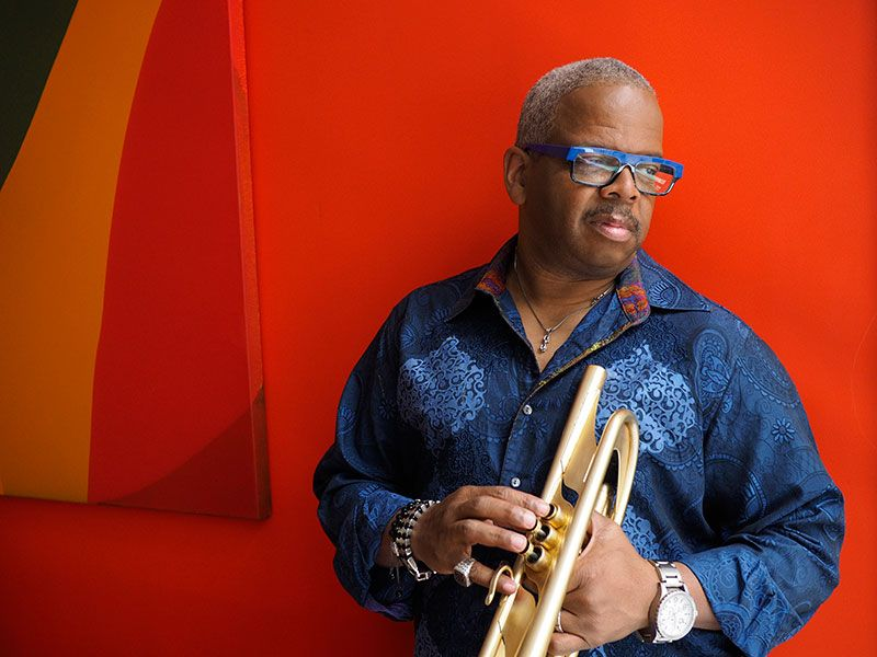 Terence Blanchard with his trumpet