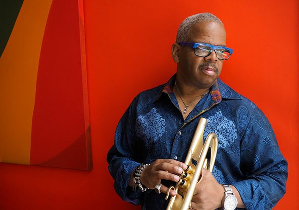 Click to open the large image: Terence Blanchard with his trumpet