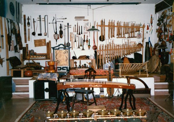 Click to open the large image: Walking the Walls: The Transformation of a Working Instrument Collection