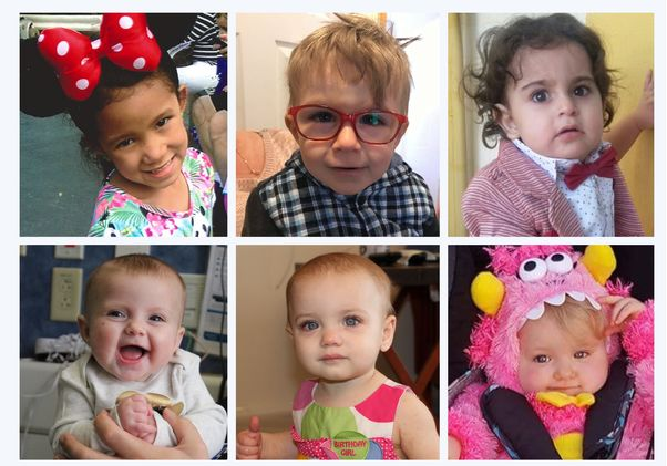 Composite of six children who participated in clinical trials
