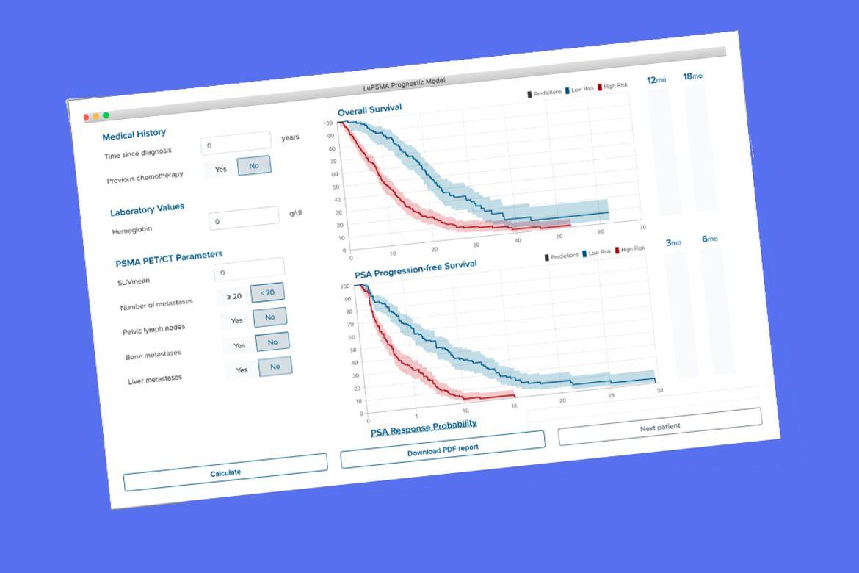 Image of web-based risk calculator