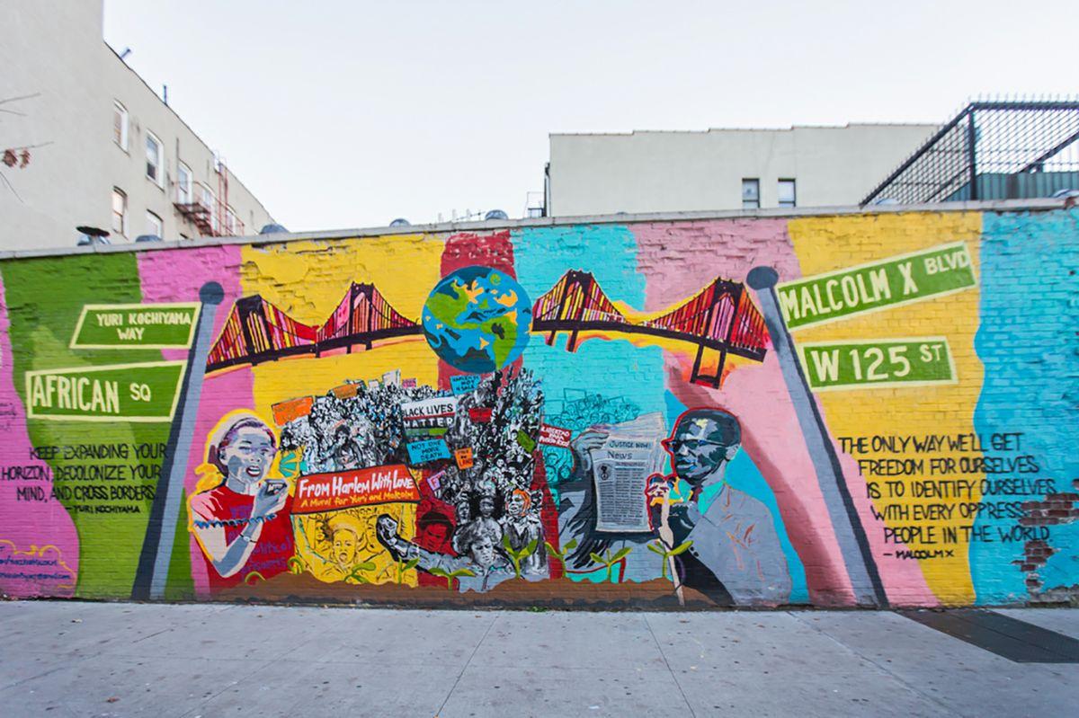 Kochiyama Malcolm X mural
