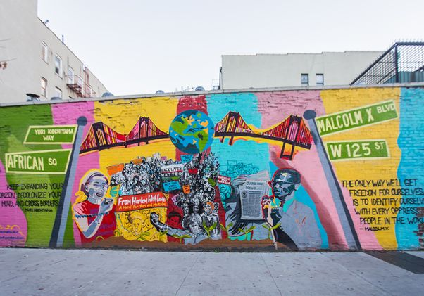 Click to open the large image: Kochiyama Malcolm X mural
