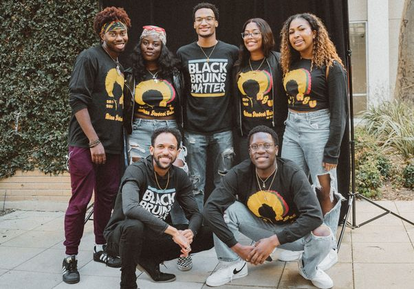Students at opening of the UCLA Black Community Center