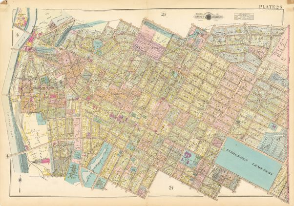 Map of Los Angeles in 1921