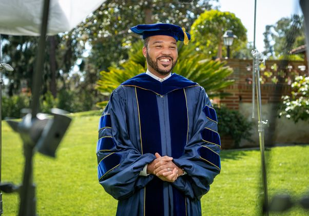 Click to open the large image: D'Artagnan Scorza - UCLA Commencement 2021