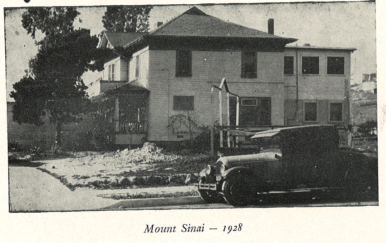 """This is a photo of a car in front of a house and appeared in """"Who's Who in sponsoring the Mount Sinai Hospital and Clinic, Annual Directory 1945."""""""