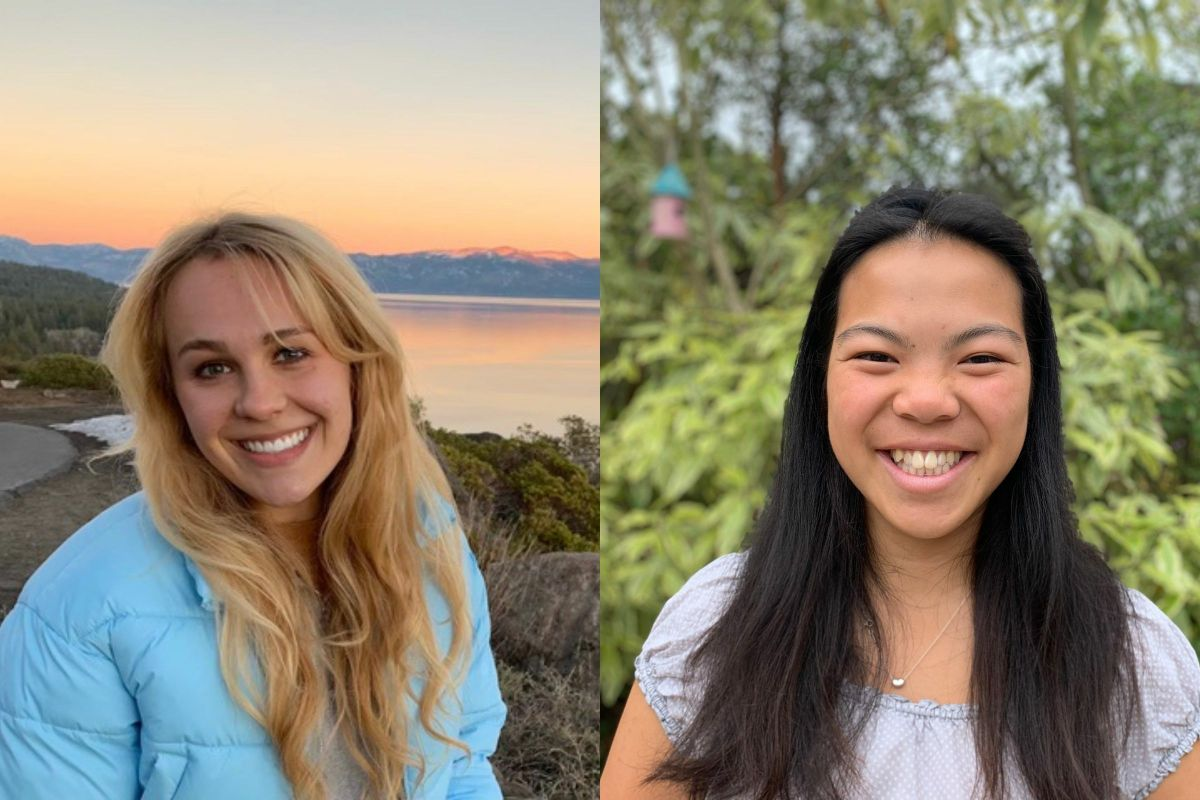 From left: Olivia Bielskis and Kristen Tam