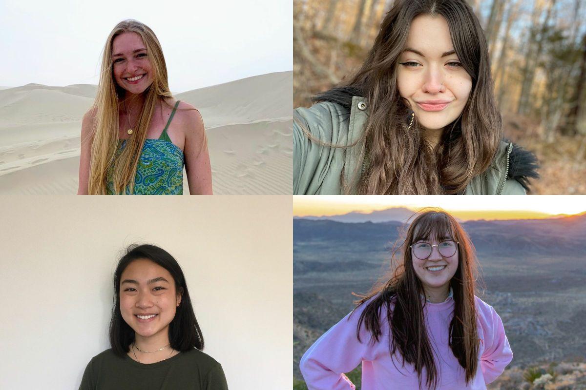 Top row: Alex Nechaev, Sophie Marencik. Bottom row: Alice Lu, Ashley Kenney.