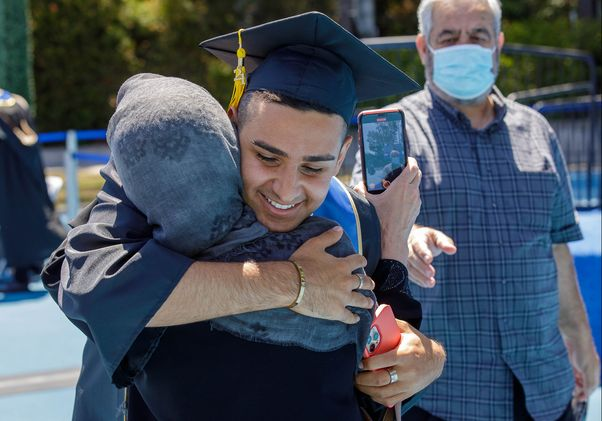 Click to open the large image: UCLA Commencement 2021 - Paywand Baghal