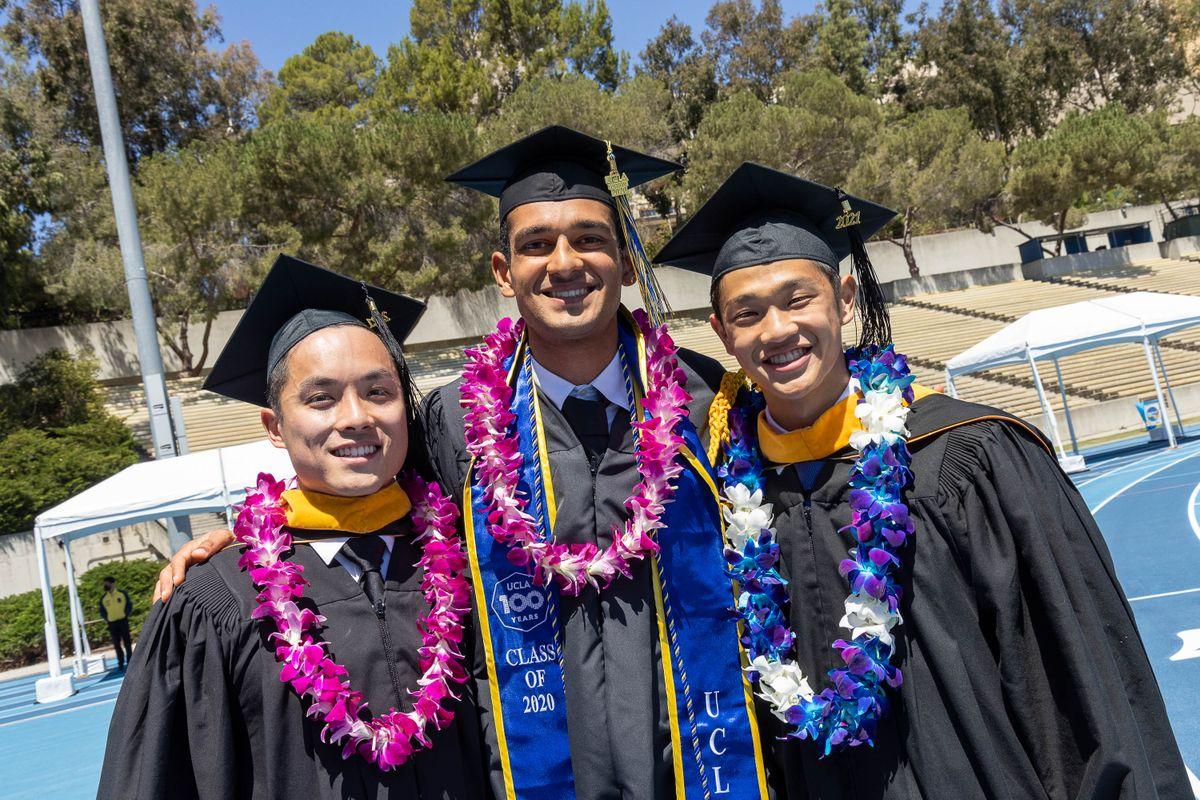 UCLA Commencement 2021 - 3 friends