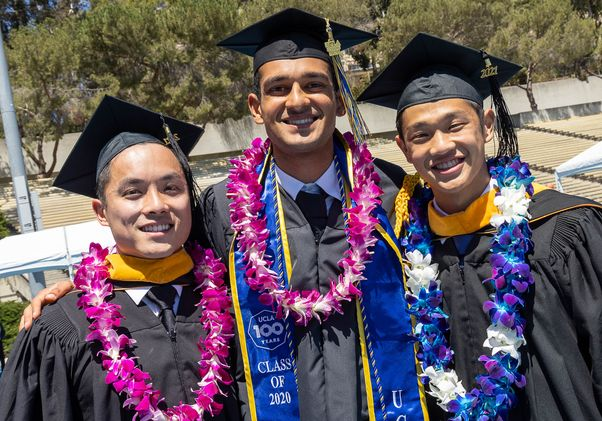 Click to open the large image: UCLA Commencement 2021 - 3 friends