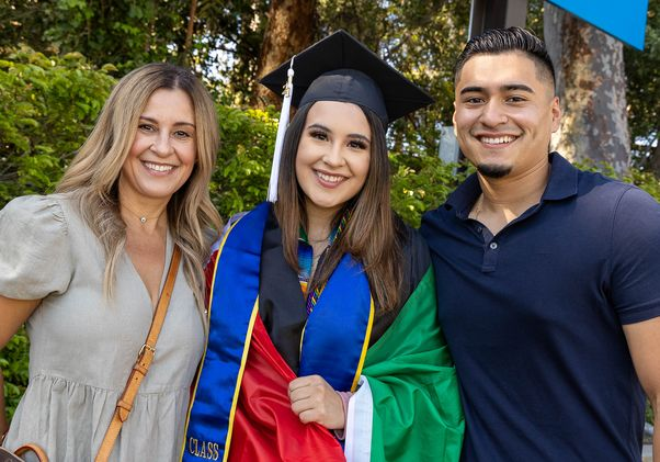 Click to open the large image: UCLA Commencement 2021 - family