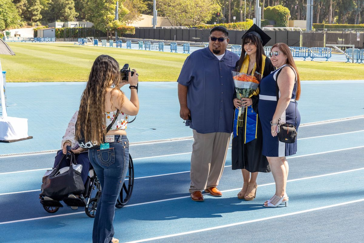 UCLA Commencement 2021- family and photographer