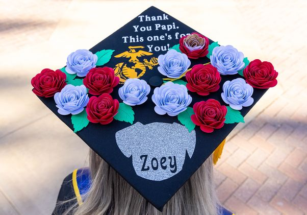 Click to open the large image: UCLA Commencement 2021 - mortarboard